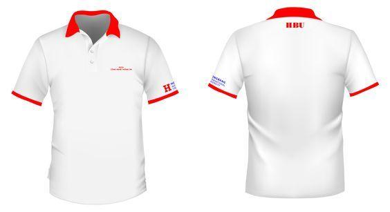 Áo phông đồng phục màu trắng lịch sự, bắt mắt
