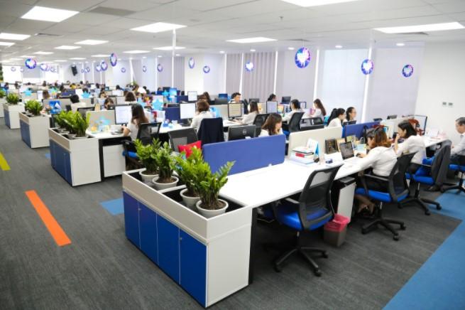 Văn phòng được thiết kế linh động, chuyên nghiệp